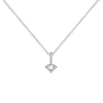Silver Vintage Necklace, J03802-01-WT-GD, hi-res