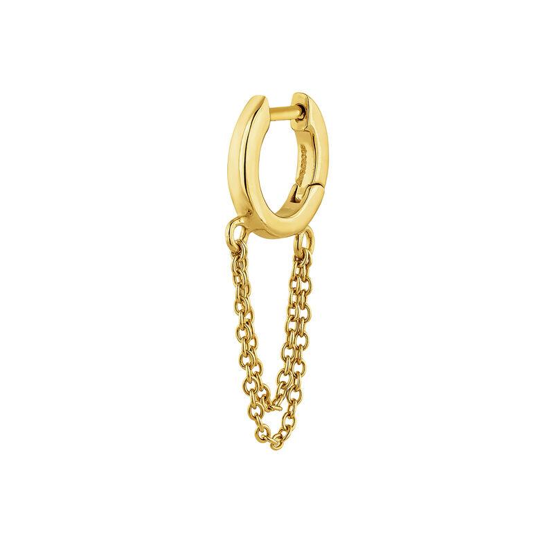 Boucle d'oreille chaîne argent plaqué or, J04871-02-H, hi-res