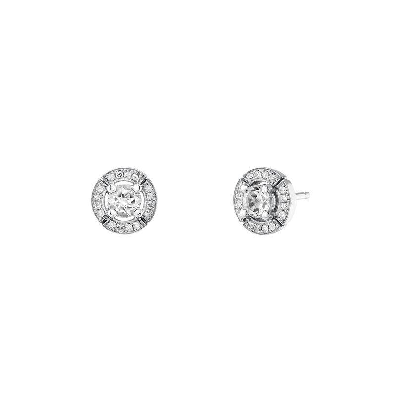 Pendientes pequeños topacio diamante plata, J03770-01-WT-GD, hi-res