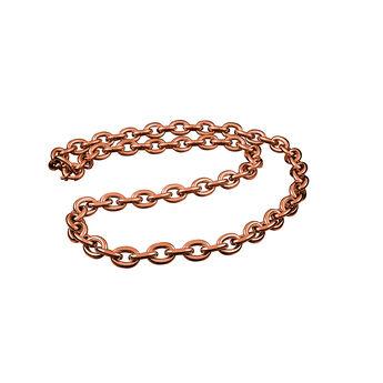 Cadena eslabón plata recubierta oro rosa, J00140-03, hi-res