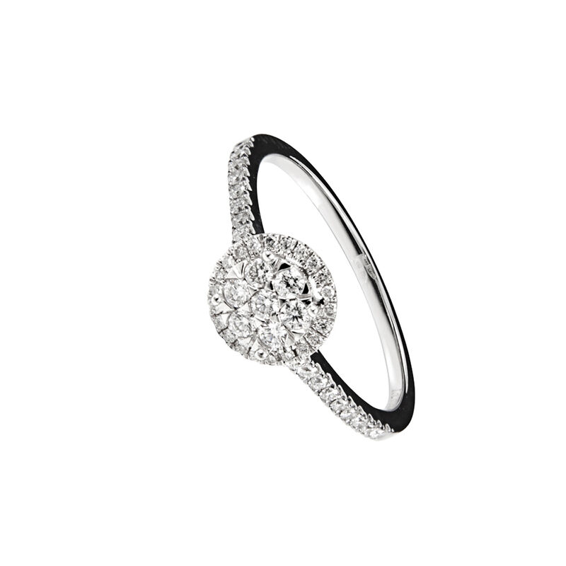 Anillo orla diamantes oro blanco 0,2 ct, J00693-01-20, hi-res