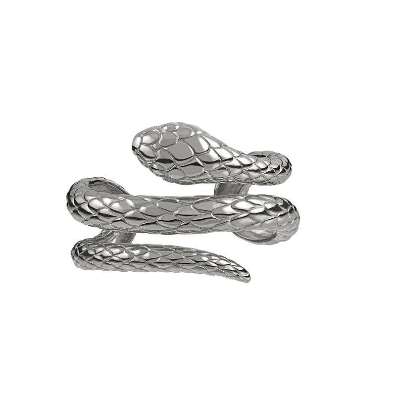 Silver snake rigid bracelet, J00237-01, hi-res