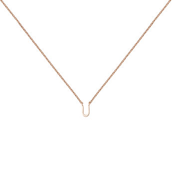 Rose gold Initial U necklace, J04382-03-U, hi-res