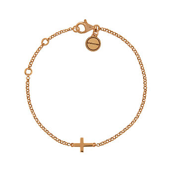 Rose gold cross bracelet, J00871-03, hi-res