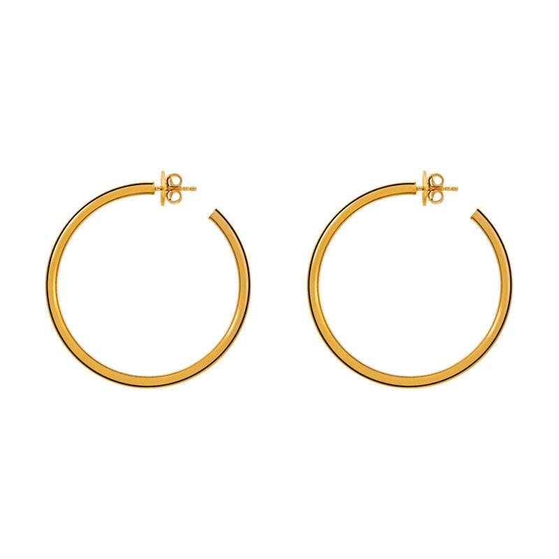 Large gold hoop earrings, J01591-02, hi-res