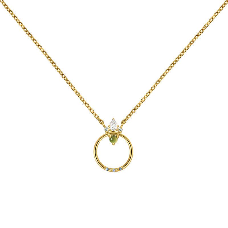Colgante piedras círculo oro, J03563-02-WTGSGT, hi-res