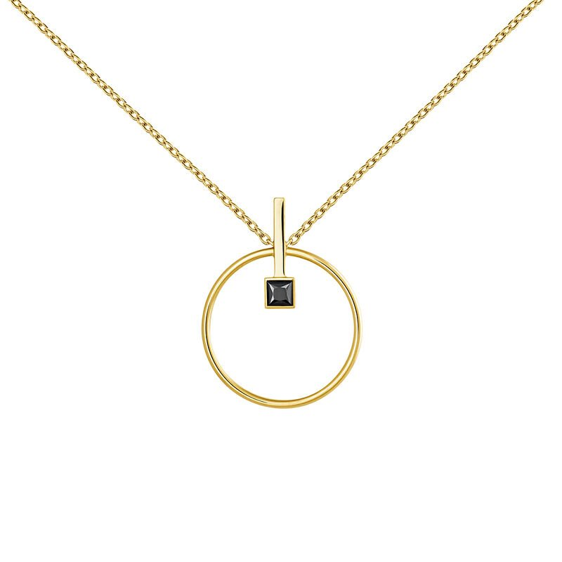 Necklace spinel gold