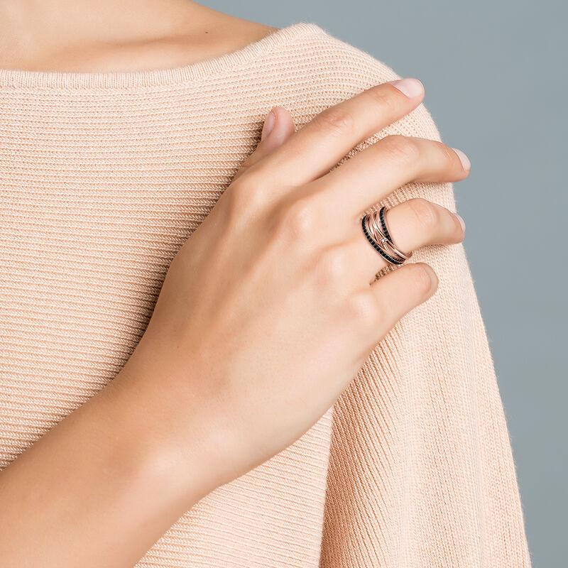 Rose gold plated topaz spinels ring, J03351-03-BSN-WT, hi-res