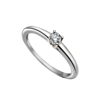 Simple white gold diamond solitaire ring 0.20 ct, J00919-01-20-GVS, hi-res
