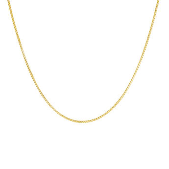 Gold plated chain box necklace, J04612-02, hi-res