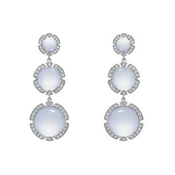 Silver long stone earrings, J03496-01-BCWT, hi-res