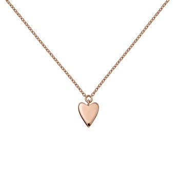Rose gold heart necklace, J03864-03, hi-res