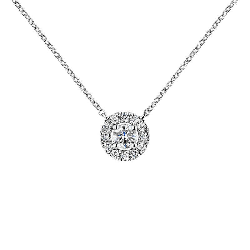 Colgante orla diamantes oro blanco 0,10 ct, J04221-01-10-06, hi-res