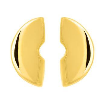 Pendientes escultóricos grandes oro, J03506-02, hi-res